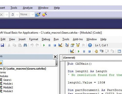 Introduction to programming in CATIA V5