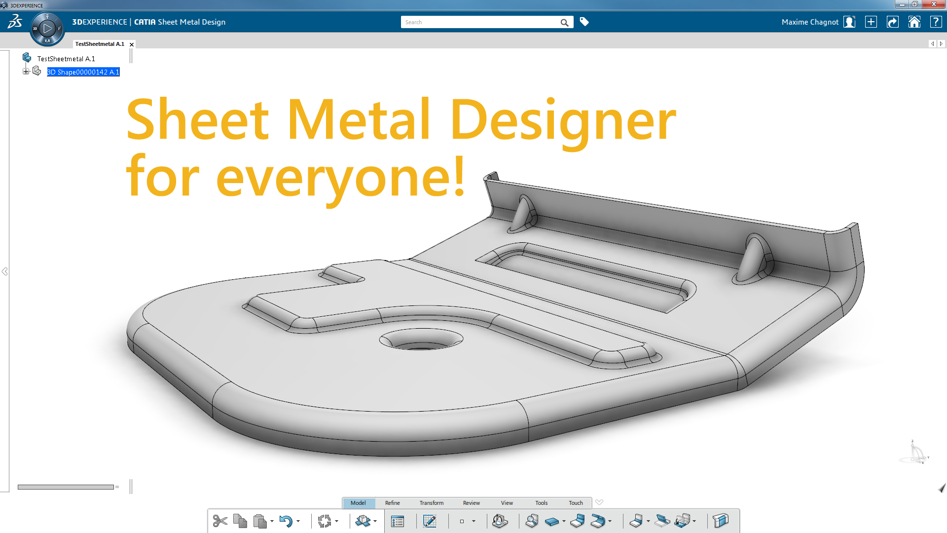 Design Sheetmetal parts with the correct CATIA Package!